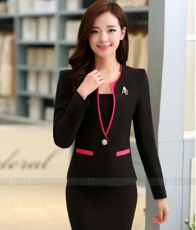 Ao Vest Dong Phuc Cong So GLU 330 áo sơ mi nữ đồng phục công sở