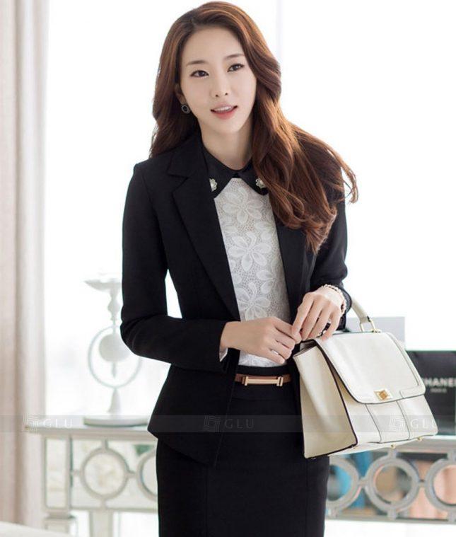Ao Vest Dong Phuc Cong So GLU 331 áo sơ mi nữ đồng phục công sở