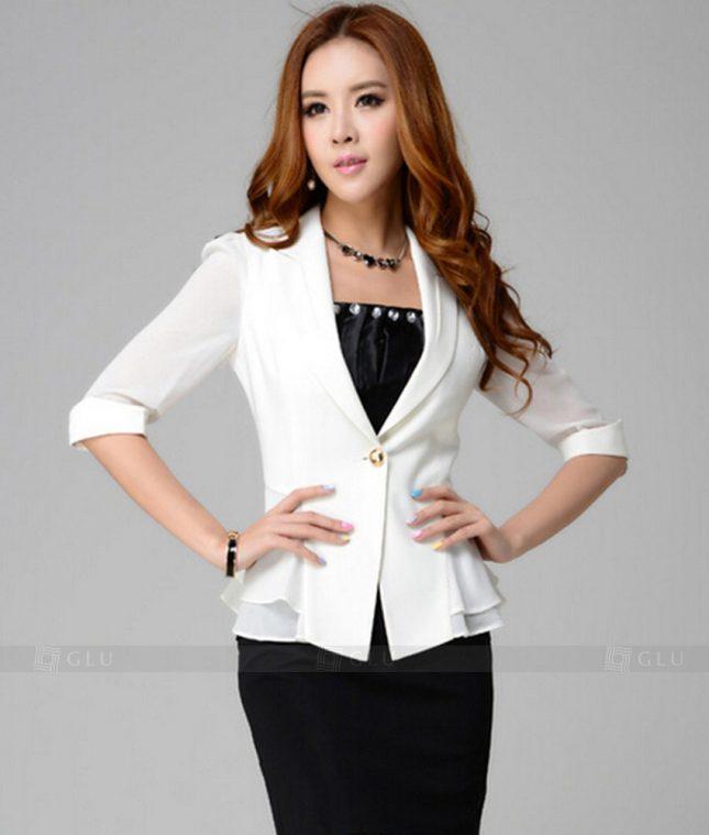 Ao Vest Dong Phuc Cong So GLU 332 áo sơ mi nữ đồng phục công sở