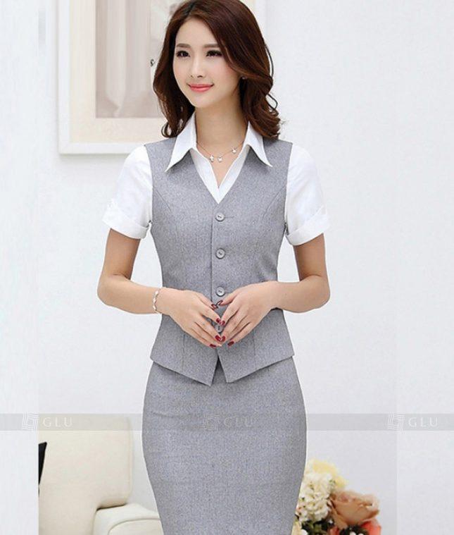 Ao Vest Dong Phuc Cong So GLU 333 áo sơ mi nữ đồng phục công sở