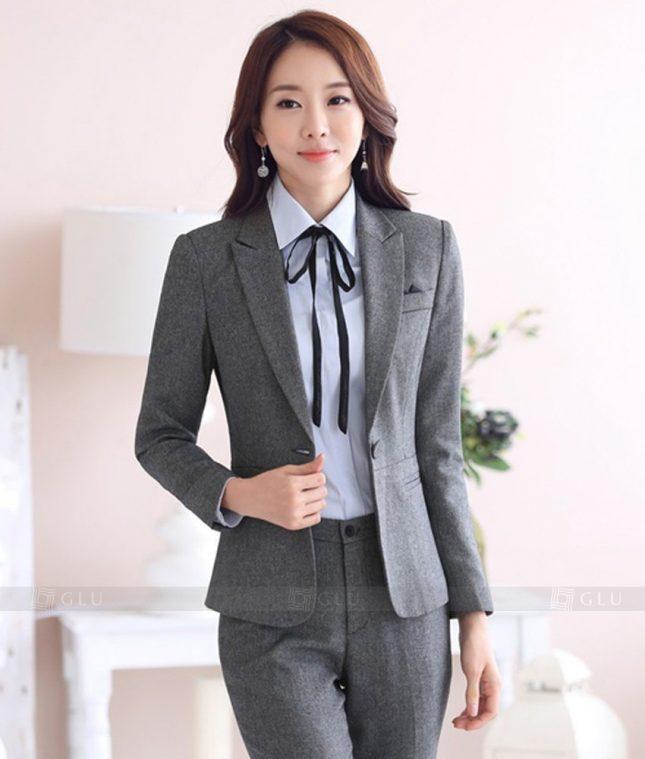 Ao Vest Dong Phuc Cong So GLU 335 áo sơ mi nữ đồng phục công sở