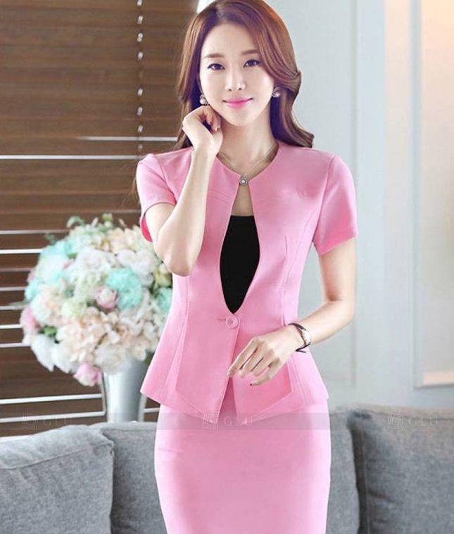 Ao Vest Dong Phuc Cong So GLU 336 áo sơ mi nữ đồng phục công sở