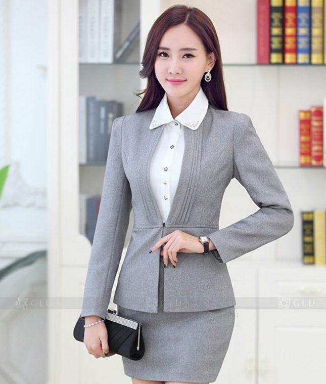 Ao Vest Dong Phuc Cong So GLU 340 áo sơ mi nữ đồng phục công sở