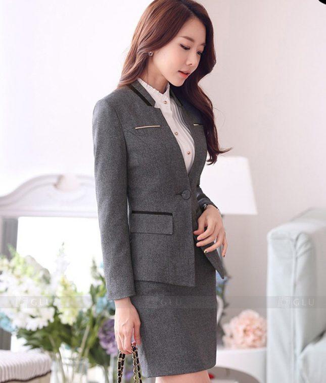 Ao Vest Dong Phuc Cong So GLU 341 áo sơ mi nữ đồng phục công sở