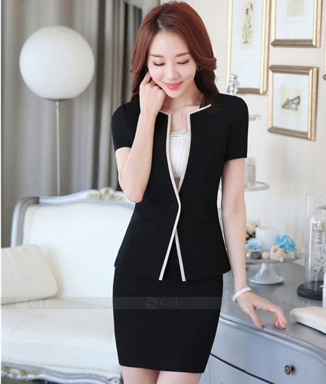 Ao Vest Dong Phuc Cong So GLU 342 áo sơ mi nữ đồng phục công sở
