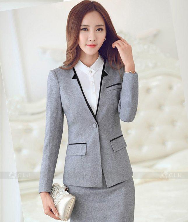 Ao Vest Dong Phuc Cong So GLU 343 áo sơ mi nữ đồng phục công sở