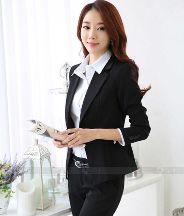 Ao Vest Dong Phuc Cong So GLU 344 áo sơ mi nữ đồng phục công sở