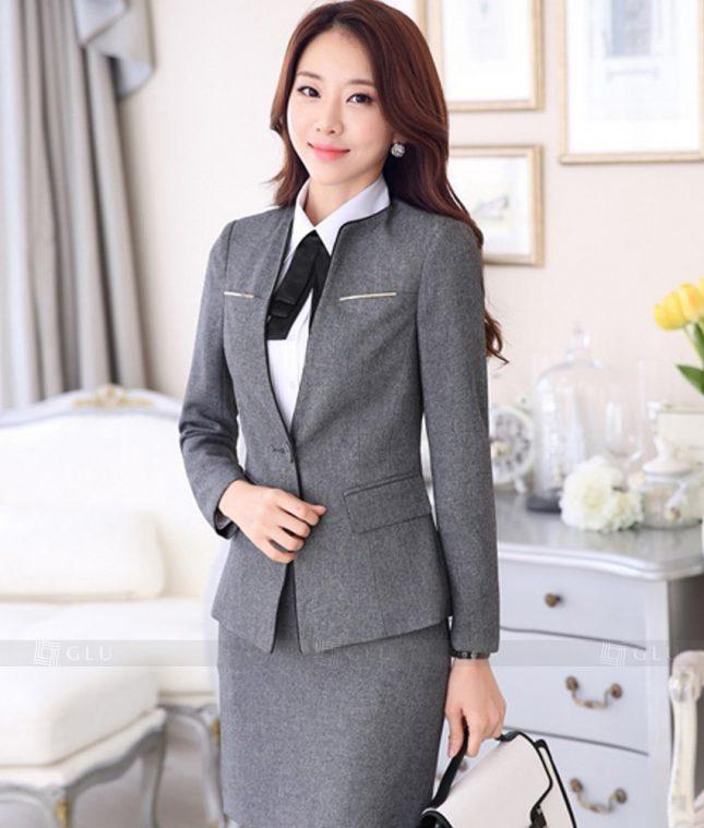 Ao Vest Dong Phuc Cong So GLU 345 áo sơ mi nữ đồng phục công sở