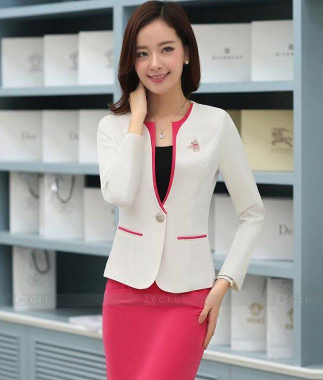 Ao Vest Dong Phuc Cong So GLU 346 áo sơ mi nữ đồng phục công sở