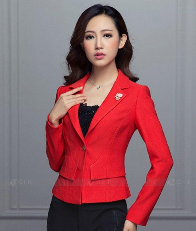 Ao Vest Dong Phuc Cong So GLU 347 áo sơ mi nữ đồng phục công sở