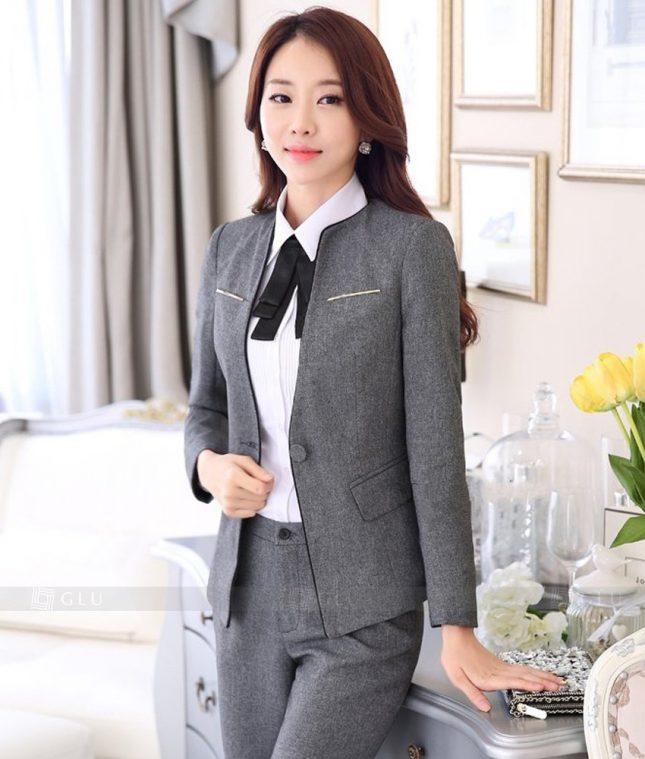 Ao Vest Dong Phuc Cong So GLU 348 áo sơ mi nữ đồng phục công sở