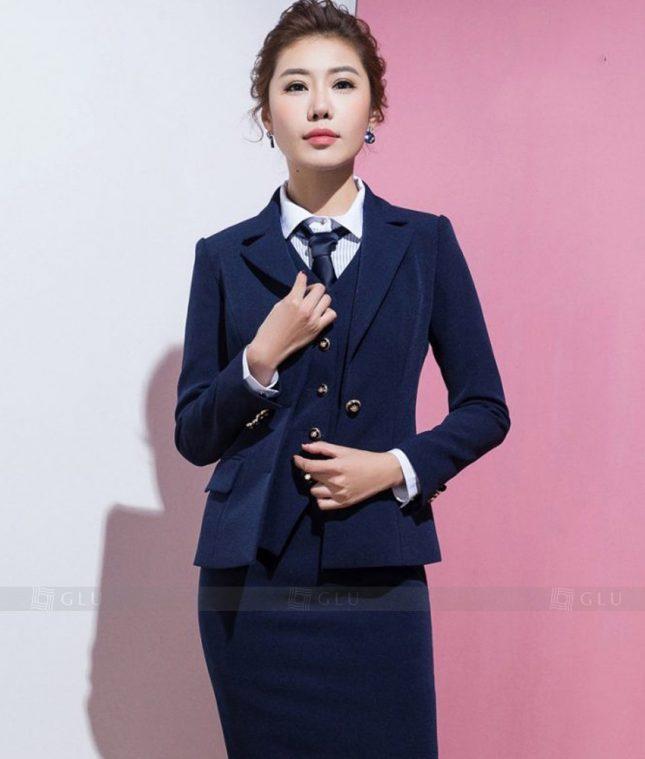 Ao Vest Dong Phuc Cong So GLU 349 áo sơ mi nữ đồng phục công sở