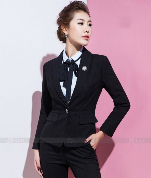 Ao Vest Dong Phuc Cong So GLU 350 áo sơ mi nữ đồng phục công sở