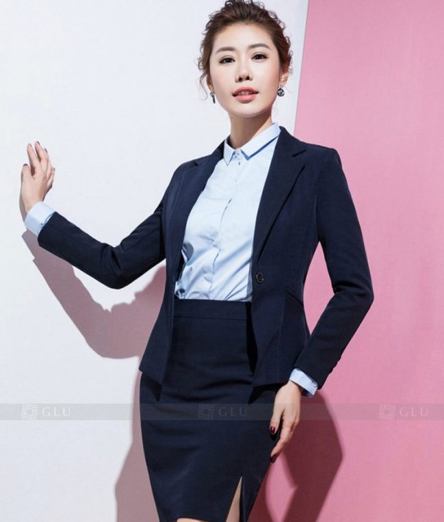 Ao Vest Dong Phuc Cong So GLU 351 áo sơ mi nữ đồng phục công sở