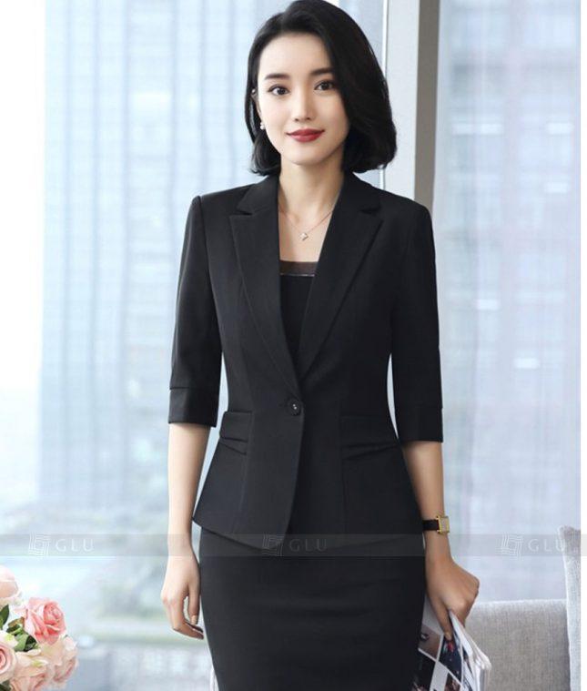 Ao Vest Dong Phuc Cong So GLU 356 áo sơ mi nữ đồng phục công sở