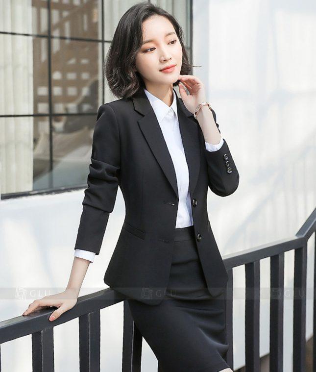 Ao Vest Dong Phuc Cong So GLU 357 áo sơ mi nữ đồng phục công sở