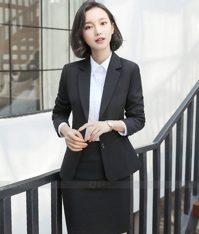 Ao Vest Dong Phuc Cong So GLU 358 áo sơ mi nữ đồng phục công sở