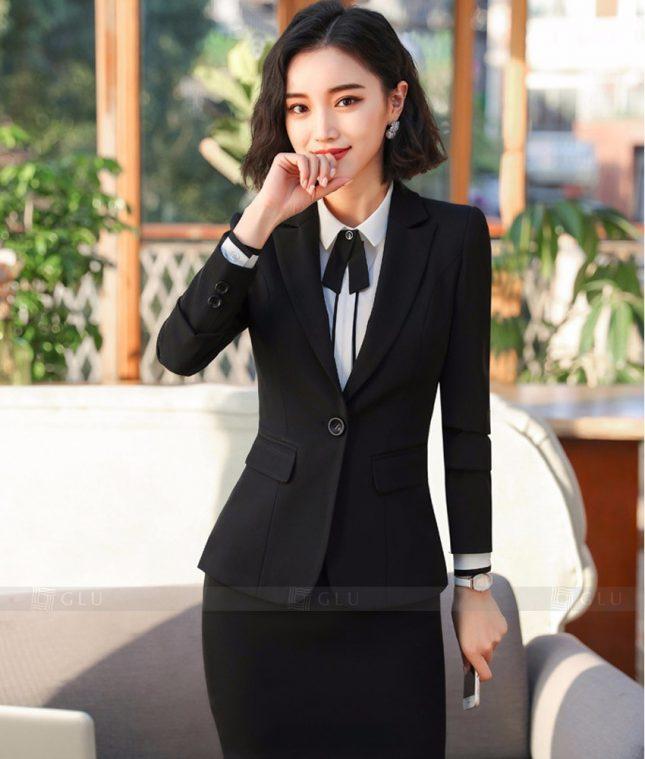 Ao Vest Dong Phuc Cong So GLU 364 áo sơ mi nữ đồng phục công sở