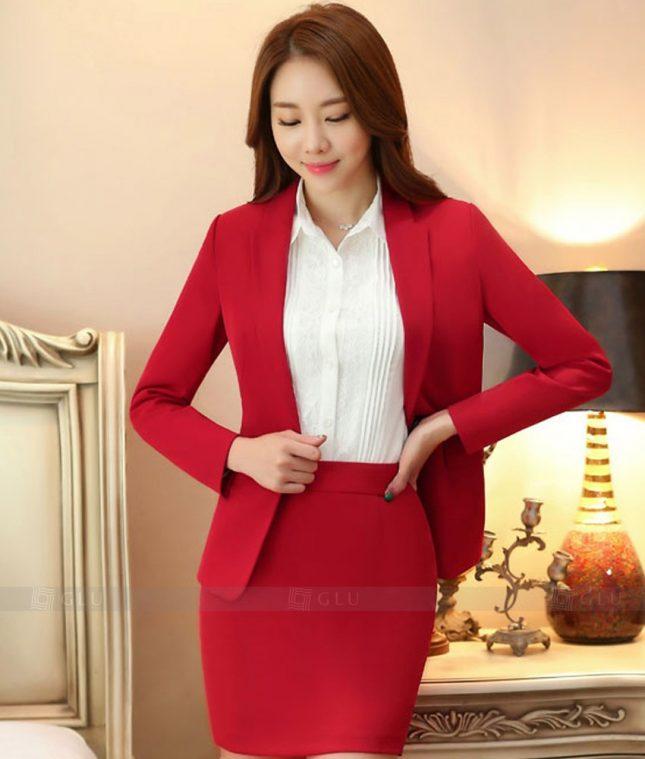 Ao Vest Dong Phuc Cong So GLU 366 áo sơ mi nữ đồng phục công sở