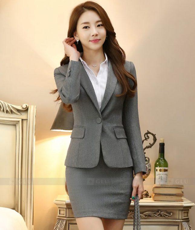 Ao Vest Dong Phuc Cong So GLU 370 áo sơ mi nữ đồng phục công sở