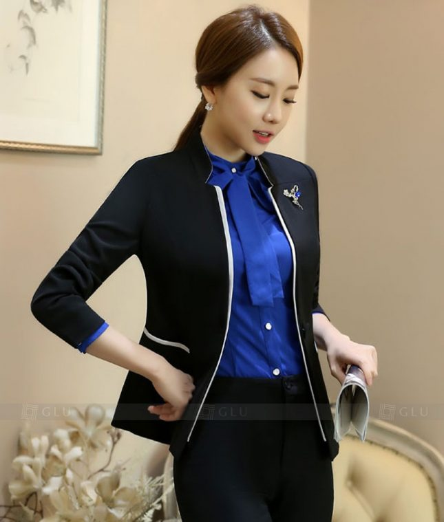 Ao Vest Dong Phuc Cong So GLU 371 áo sơ mi nữ đồng phục công sở