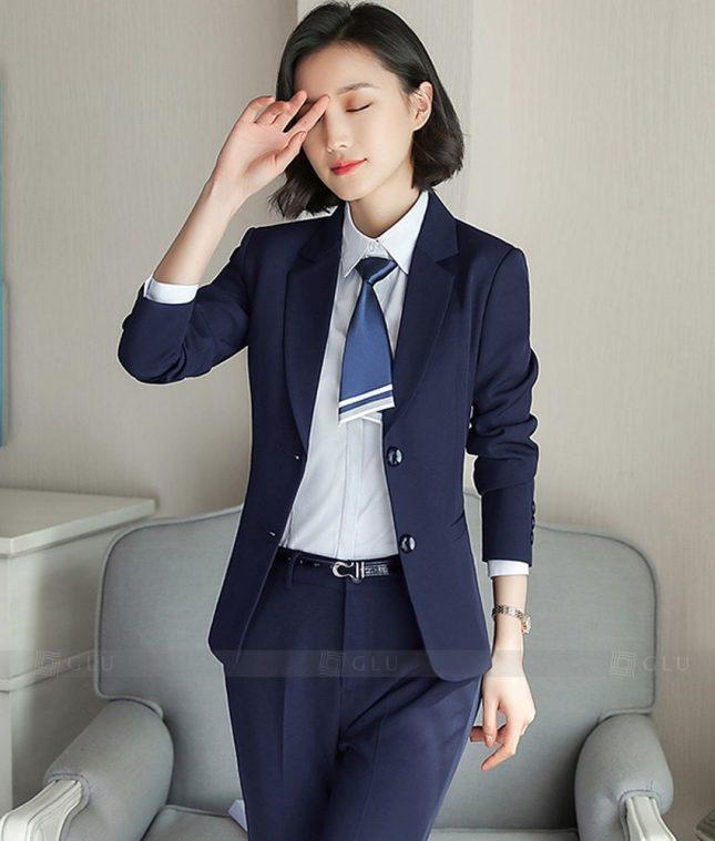 Ao Vest Dong Phuc Cong So GLU 373 áo sơ mi nữ đồng phục công sở