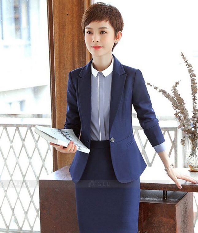 Ao Vest Dong Phuc Cong So GLU 374 áo sơ mi nữ đồng phục công sở