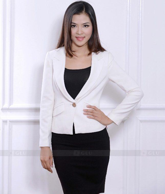 Ao Vest Dong Phuc Cong So GLU 376 áo sơ mi nữ đồng phục công sở