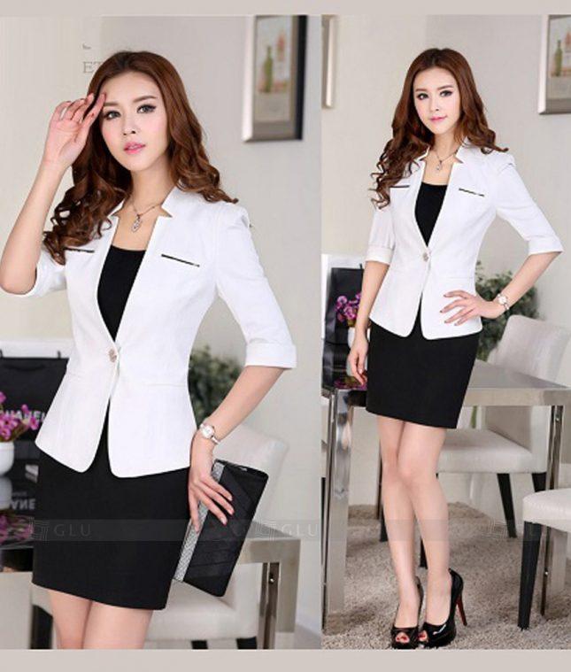 Ao Vest Dong Phuc Cong So GLU 377 áo sơ mi nữ đồng phục công sở