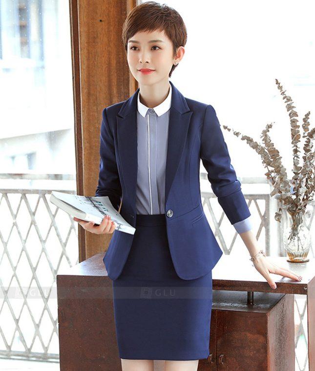 Ao Vest Dong Phuc Cong So GLU 378 áo sơ mi nữ đồng phục công sở