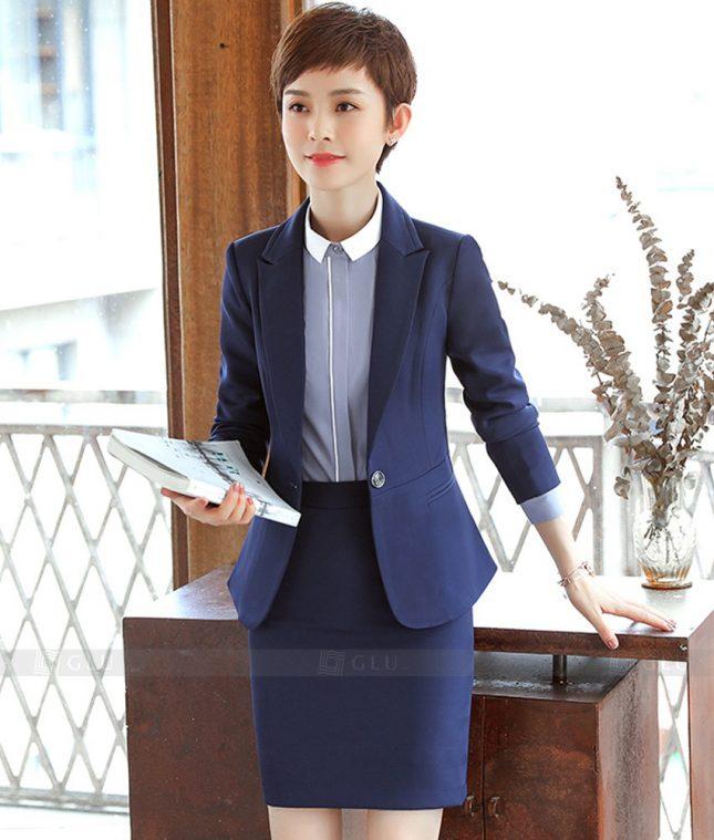 Ao Vest Dong Phuc Cong So GLU 379 áo sơ mi nữ đồng phục công sở