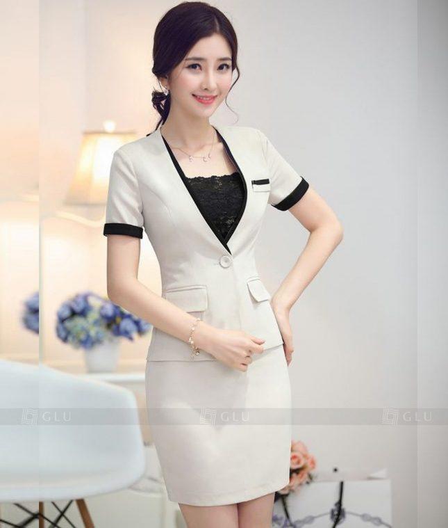 Ao Vest Dong Phuc Cong So GLU 380 áo sơ mi nữ đồng phục công sở