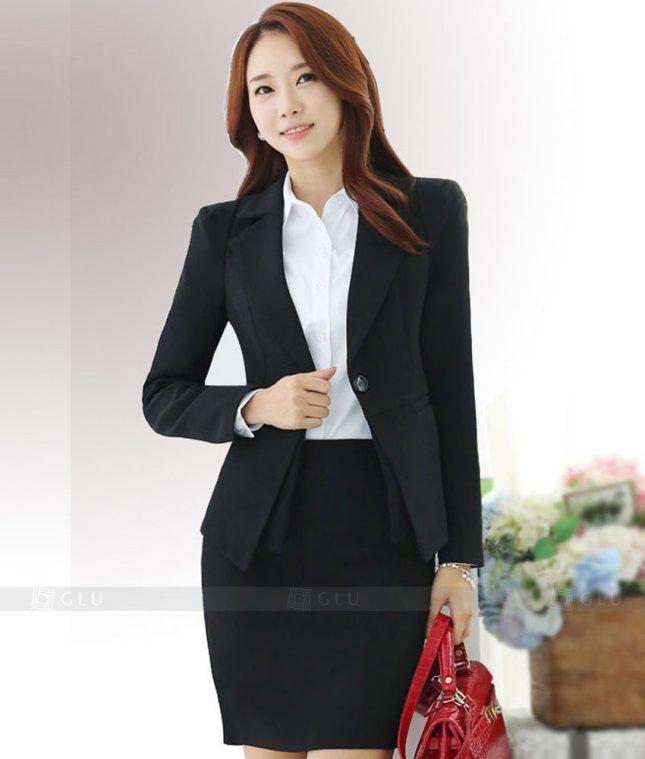 Ao Vest Dong Phuc Cong So GLU 381 áo sơ mi nữ đồng phục công sở