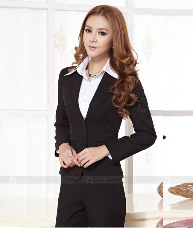 Ao Vest Dong Phuc Cong So GLU 384 áo sơ mi nữ đồng phục công sở
