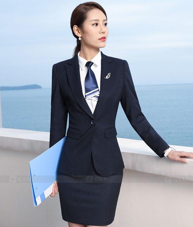 Ao Vest Dong Phuc Cong So GLU 386 áo sơ mi nữ đồng phục công sở