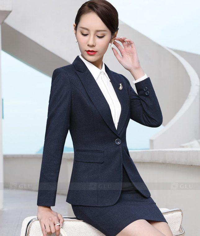 Ao Vest Dong Phuc Cong So GLU 387 áo sơ mi nữ đồng phục công sở
