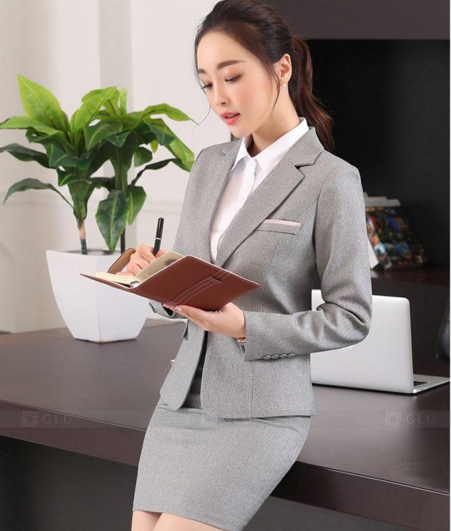 Ao Vest Dong Phuc Cong So GLU 388 áo sơ mi nữ đồng phục công sở