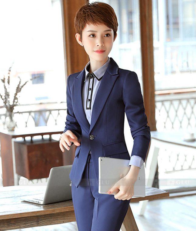 Ao Vest Dong Phuc Cong So GLU 389 áo sơ mi nữ đồng phục công sở