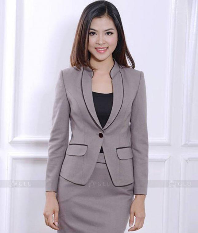 Ao Vest Dong Phuc Cong So GLU 390 áo sơ mi nữ đồng phục công sở