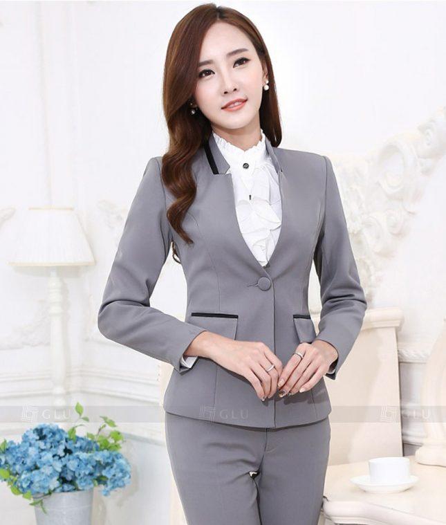 Ao Vest Dong Phuc Cong So GLU 391 áo sơ mi nữ đồng phục công sở