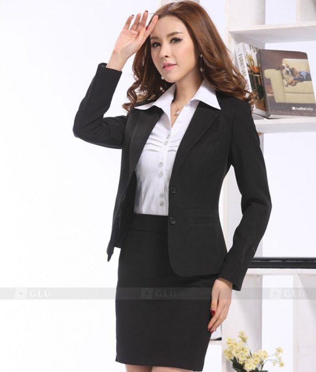 Ao Vest Dong Phuc Cong So GLU 392 áo sơ mi nữ đồng phục công sở