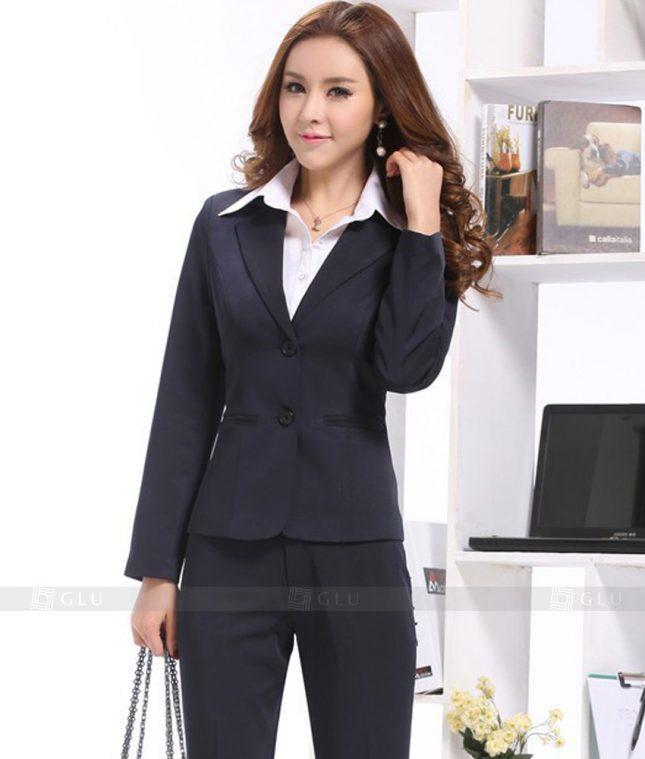 Ao Vest Dong Phuc Cong So GLU 393 áo sơ mi nữ đồng phục công sở