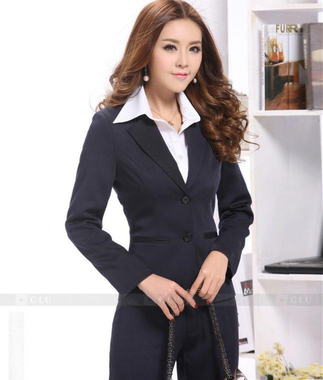 Ao Vest Dong Phuc Cong So GLU 394 áo sơ mi nữ đồng phục công sở