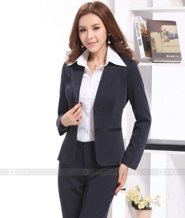 Ao Vest Dong Phuc Cong So GLU 395 áo sơ mi nữ đồng phục công sở