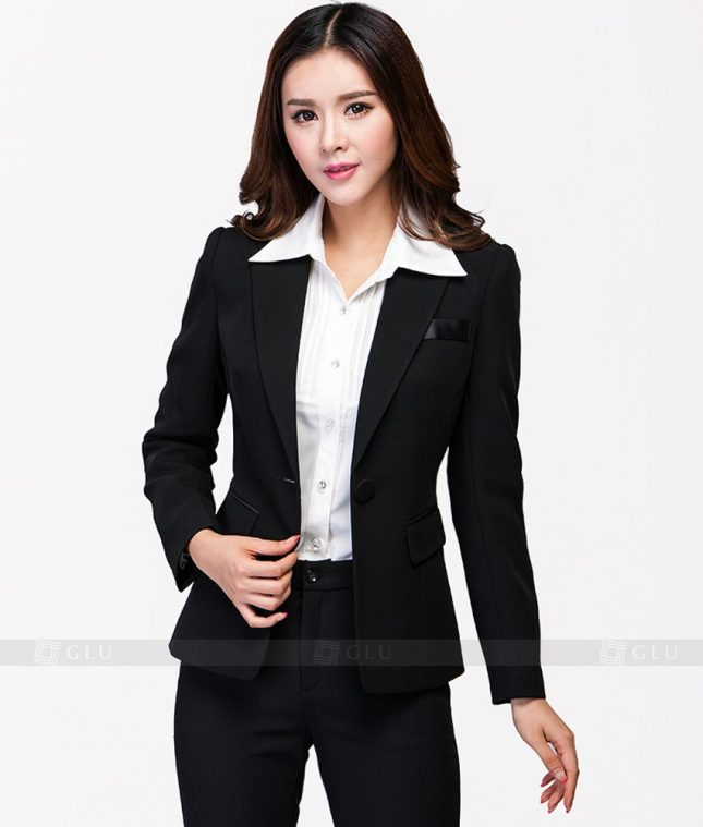 Ao Vest Dong Phuc Cong So GLU 92 áo sơ mi nữ đồng phục công sở