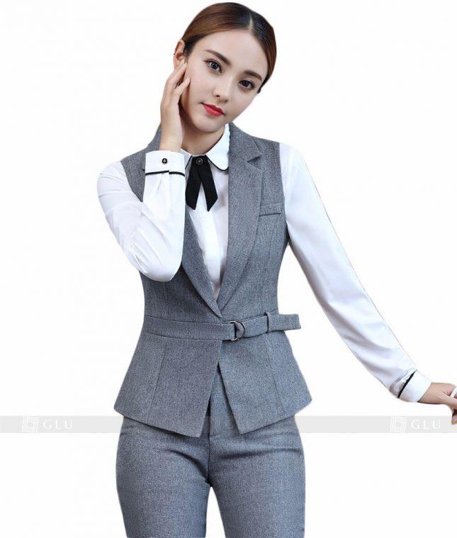 Ao Vest Dong Phuc Cong So GLU 98 áo sơ mi nữ đồng phục công sở