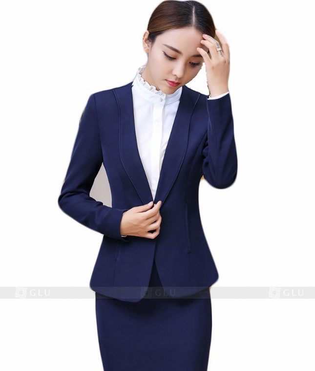 Ao Vest Dong Phuc Cong So GLU 99 áo sơ mi nữ đồng phục công sở