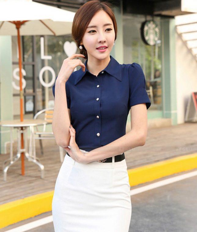 Dong Phuc Cong So Nu GS458 áo sơ mi nữ đồng phục công sở