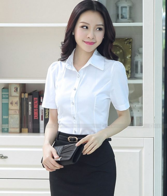 Dong Phuc Cong So Nu GS460 áo sơ mi nữ đồng phục công sở