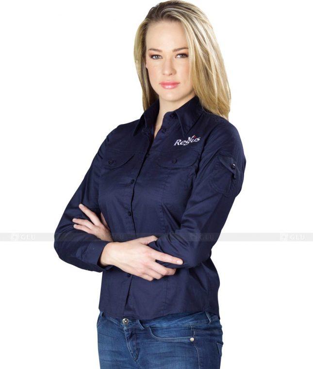 Dong Phuc Cong So Nu GS77 áo sơ mi nữ đồng phục công sở